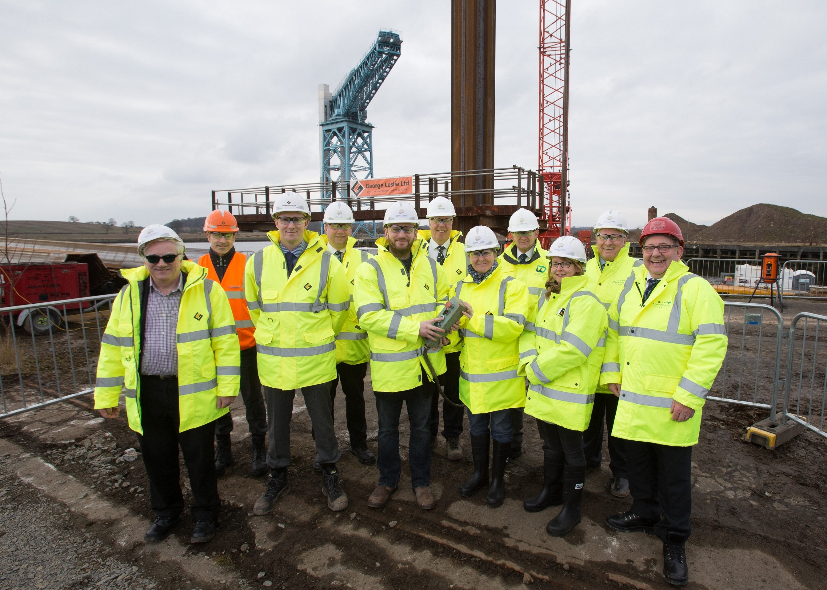 piling works commence at queens quay queens quay clydebank